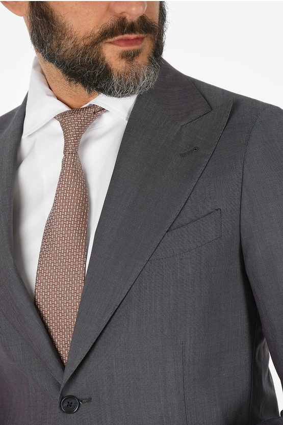 CC COLLECTION silk and virgin wool single breasted REWARD suit