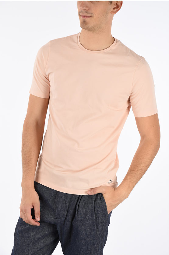 CC COLLECTION Stretchy Cotton Crewneck T-shirt
