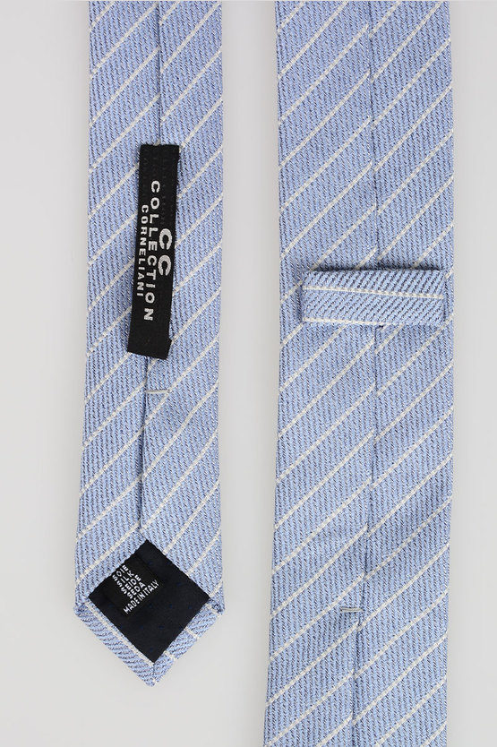 CC COLLECTION Striped print silk Tie