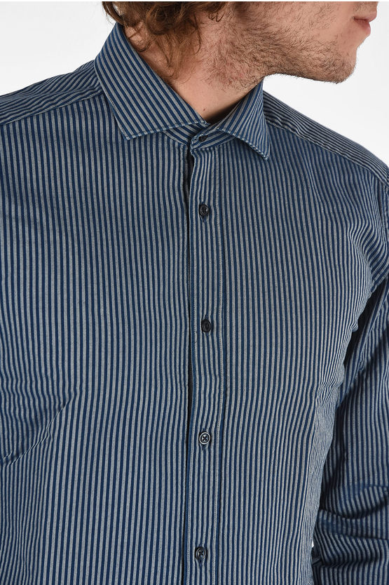 CC COLLECTION Striped Slim Fit Shirt