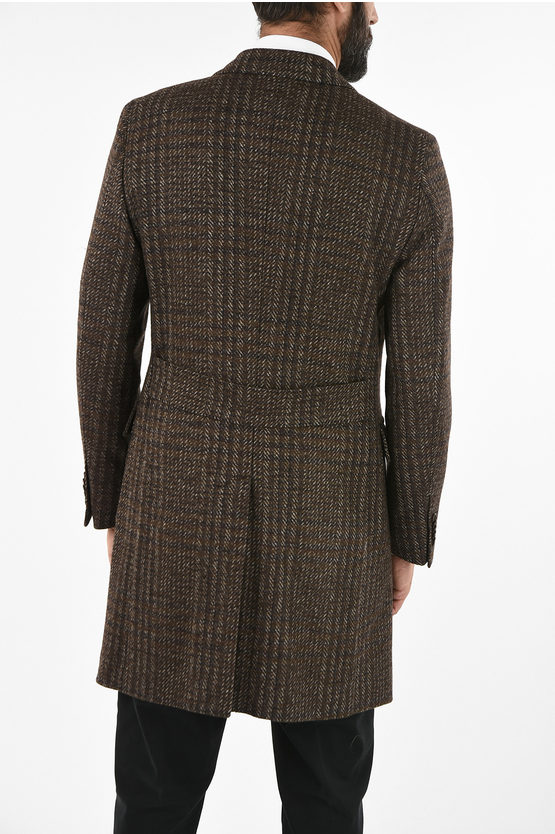 CC COLLECTION three-quarter length 3-button chesterfield coat