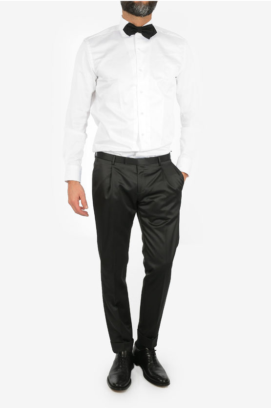 CC COLLECTION virgin wool CERIMONIA REWARD cuffed hem trousers