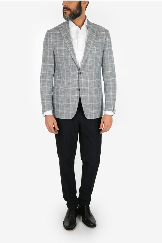 check GATE 2-button blazer