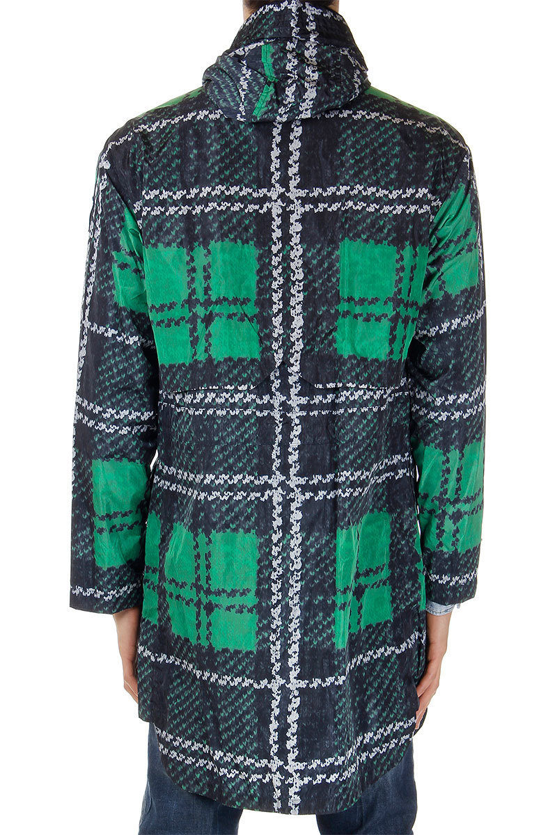 Glamood Checked Jacket Outlet Long Pattern Men Moncler wX8gHqx