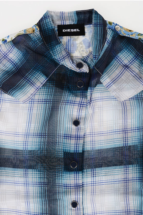Checked Shirt with Frill
