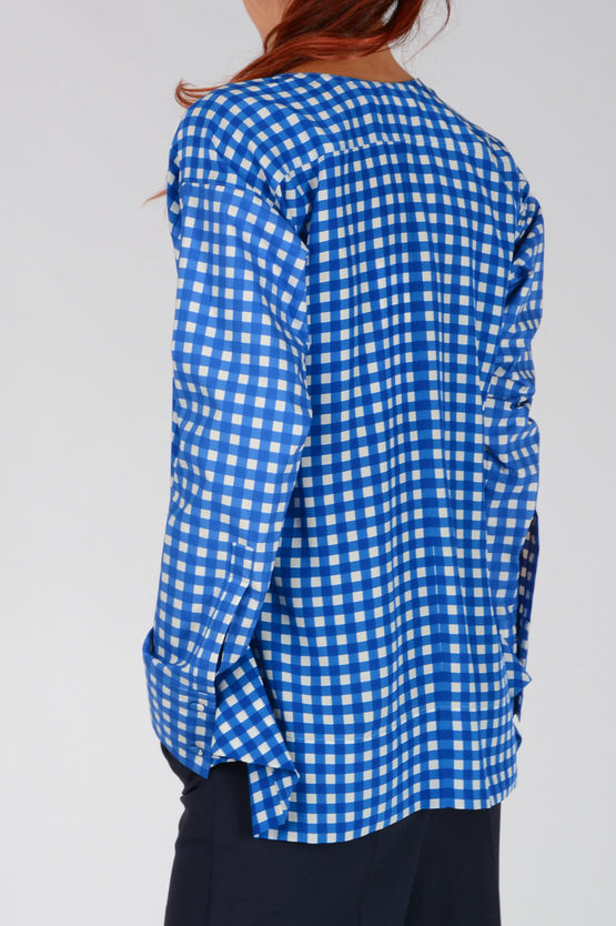 Checked silk Blend blouse