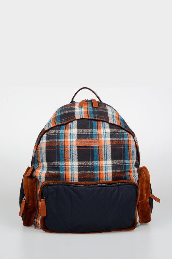 Checked Wool Backpack