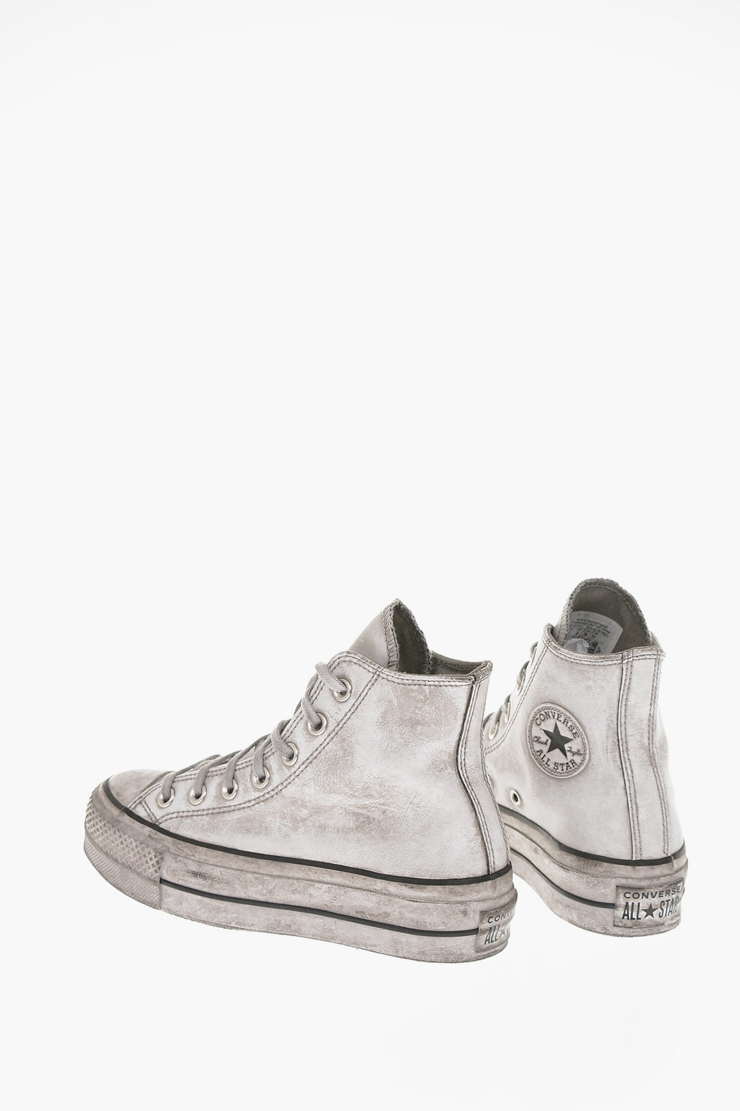 CHUCK TAYLOR ALL STAR High-top Sneakers in pelle Effetto Vintage