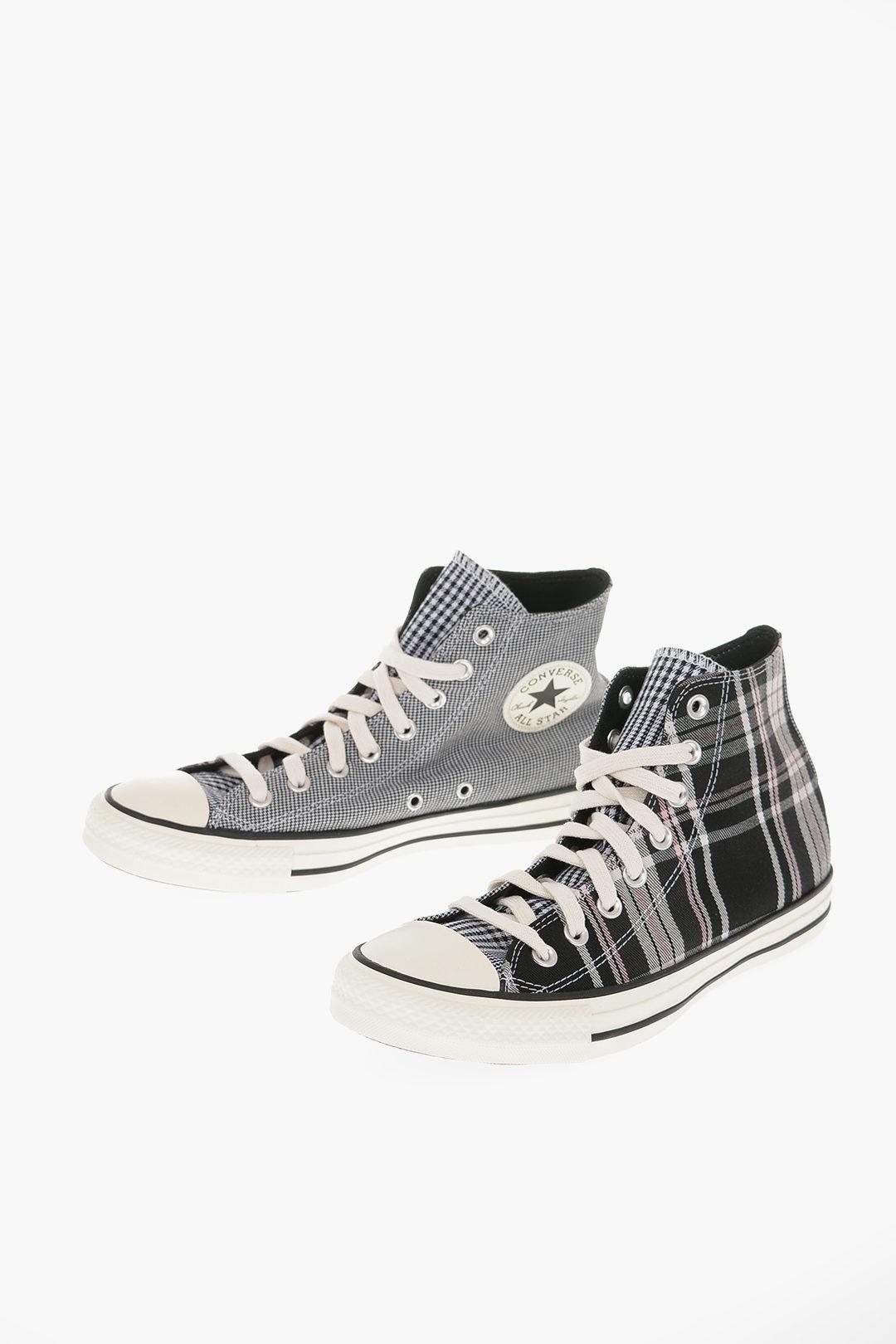 CHUCK TAYLOR ALL STAR High-top Sneakers Pied de Poule e a quadri tartan