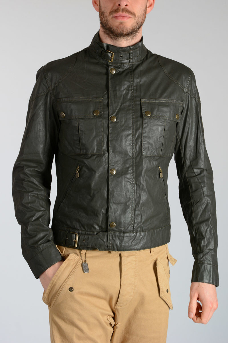 88d412b9db1 Belstaff Coated Cotton SIX DAYS BLOUSON Jacket men - Glamood Outlet