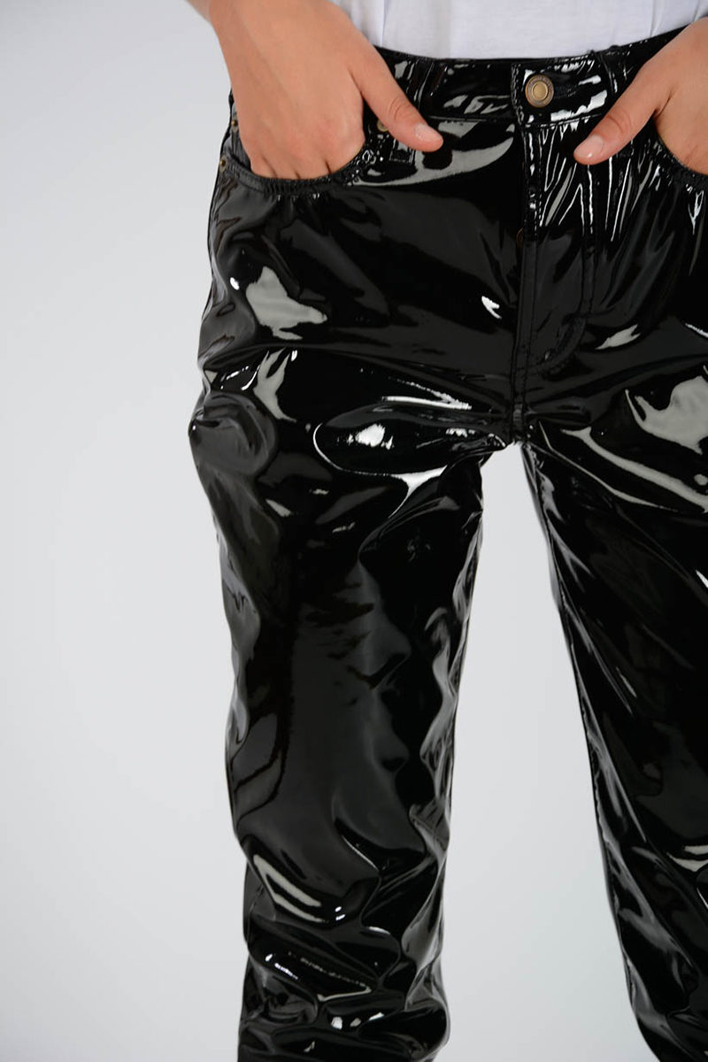 dsquared2_Saint Laurent Coated Shiny Pants women - Glamood Outlet