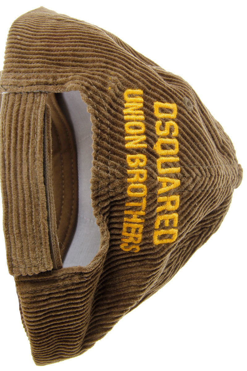 b895a4f7d6a Dsquared2 Corduroy Baseball Cap Hat men - Glamood Outlet