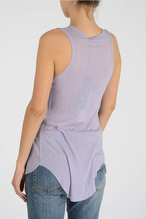 Cotton and Cashmere Sleeveless Top