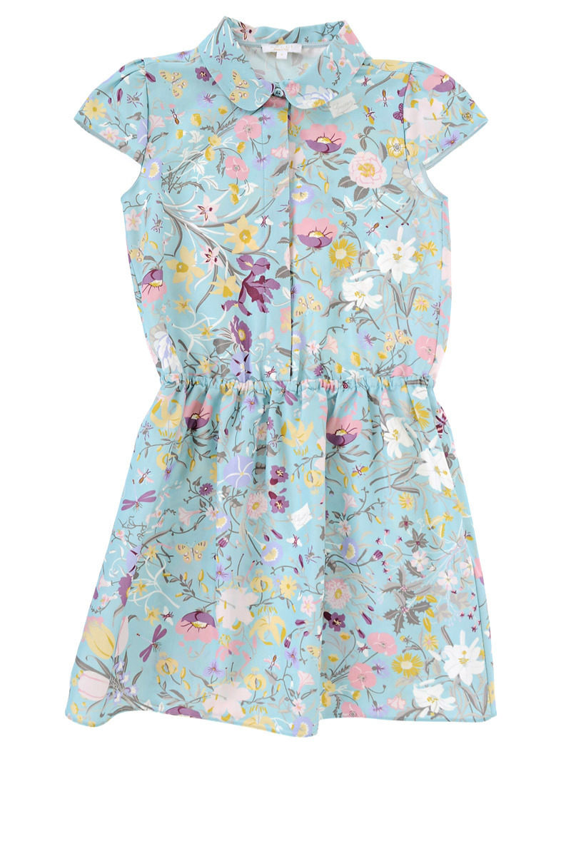 5bd775ce5 Gucci Kids Cotton and silk Dress Flower Printed girls - Glamood Outlet