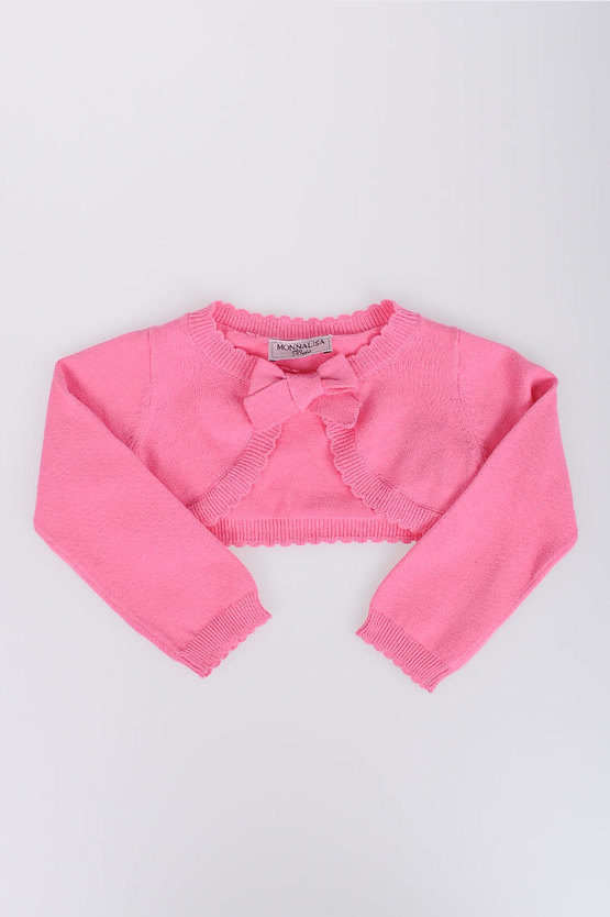 Cotton Cardigan with Bow