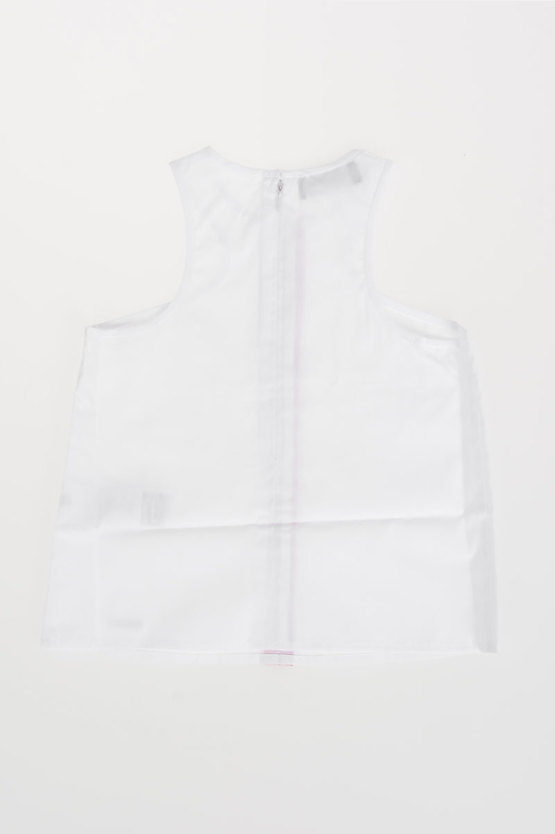 Cotton Poplin Sleeveless Shirt