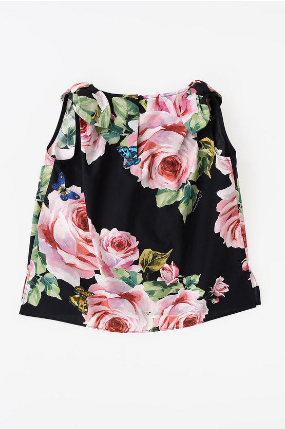Cotton Rose Bow Top