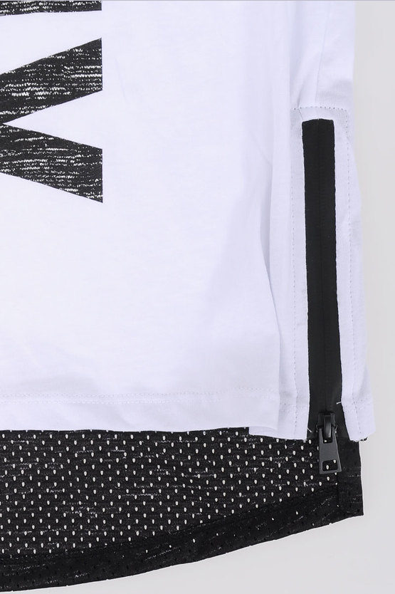 Cotton T-shirt with Zip