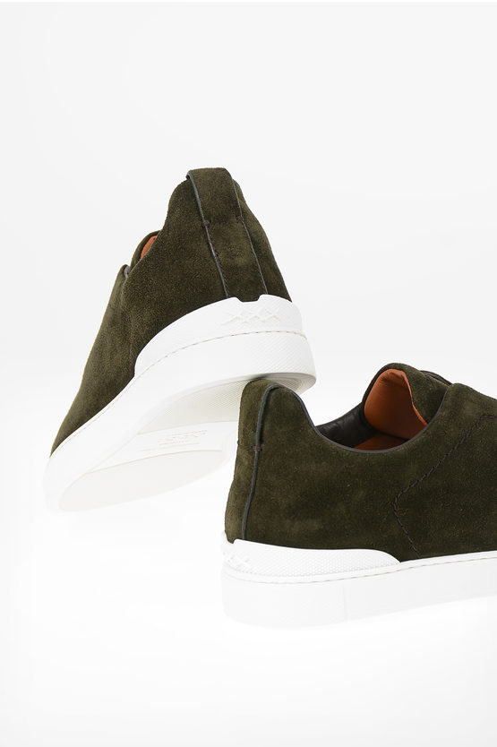 COUTURE Suede Leather TRIPLE STITCH Sneakers