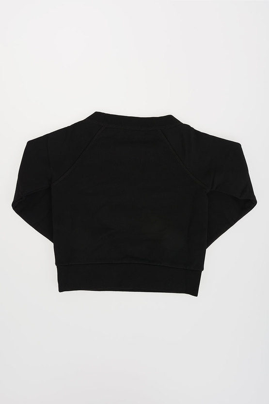 Crewneck Sweatshirt with Rhinestones