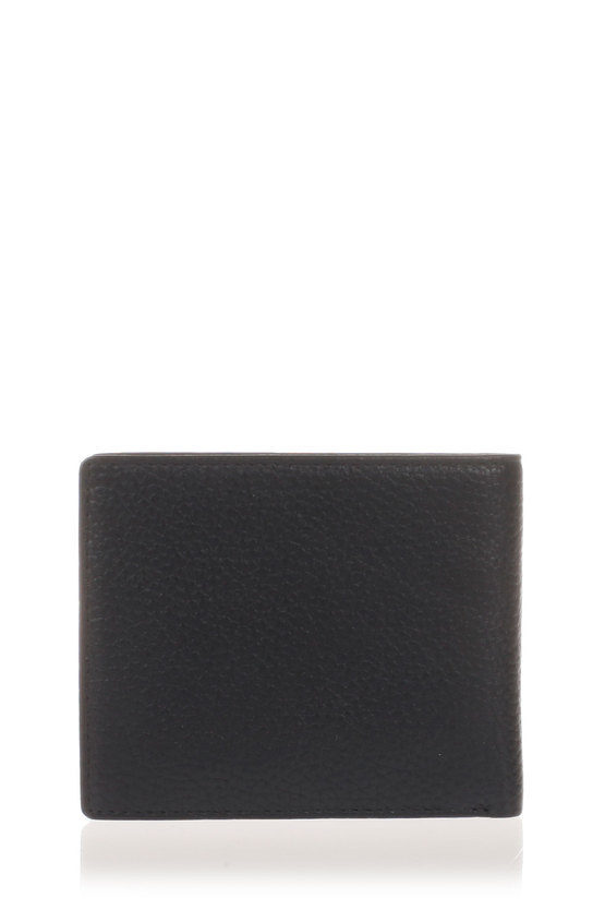 DEMAIN Black Tumbled Leather Wallet