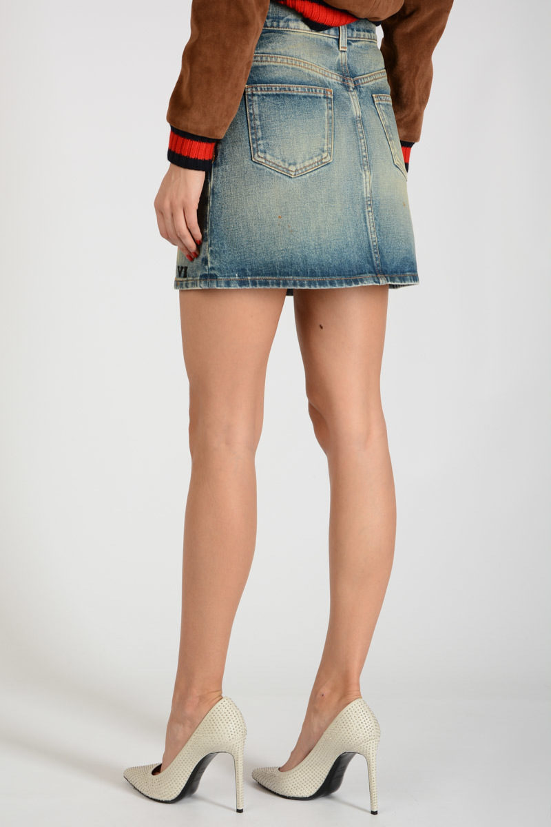 f547007ac Gucci Denim Embroidered Miniskirt women - Glamood Outlet