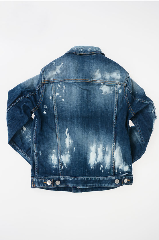 Denim Stretch Vintage Effect Jacket