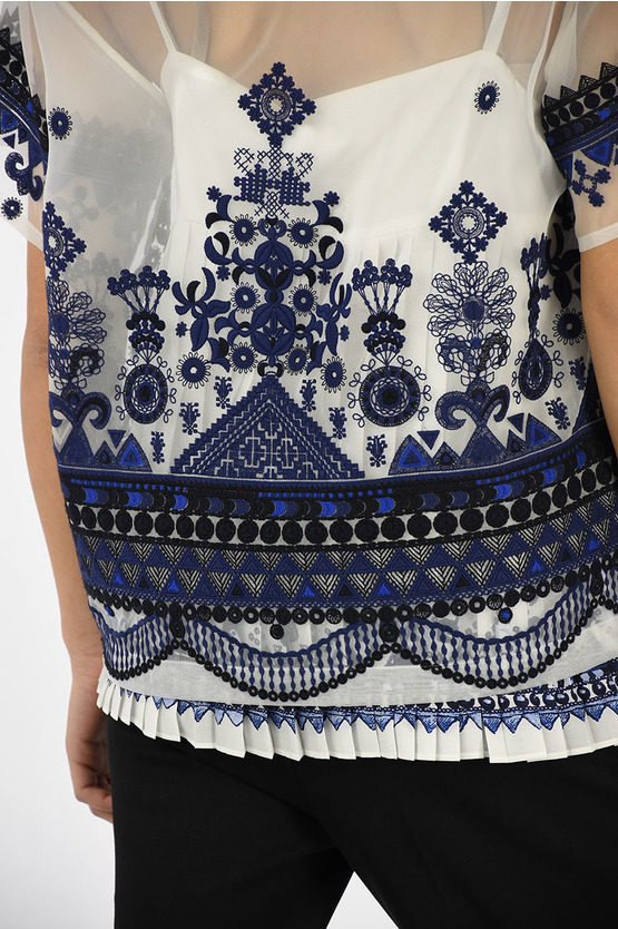 Detachable Embroidered Top