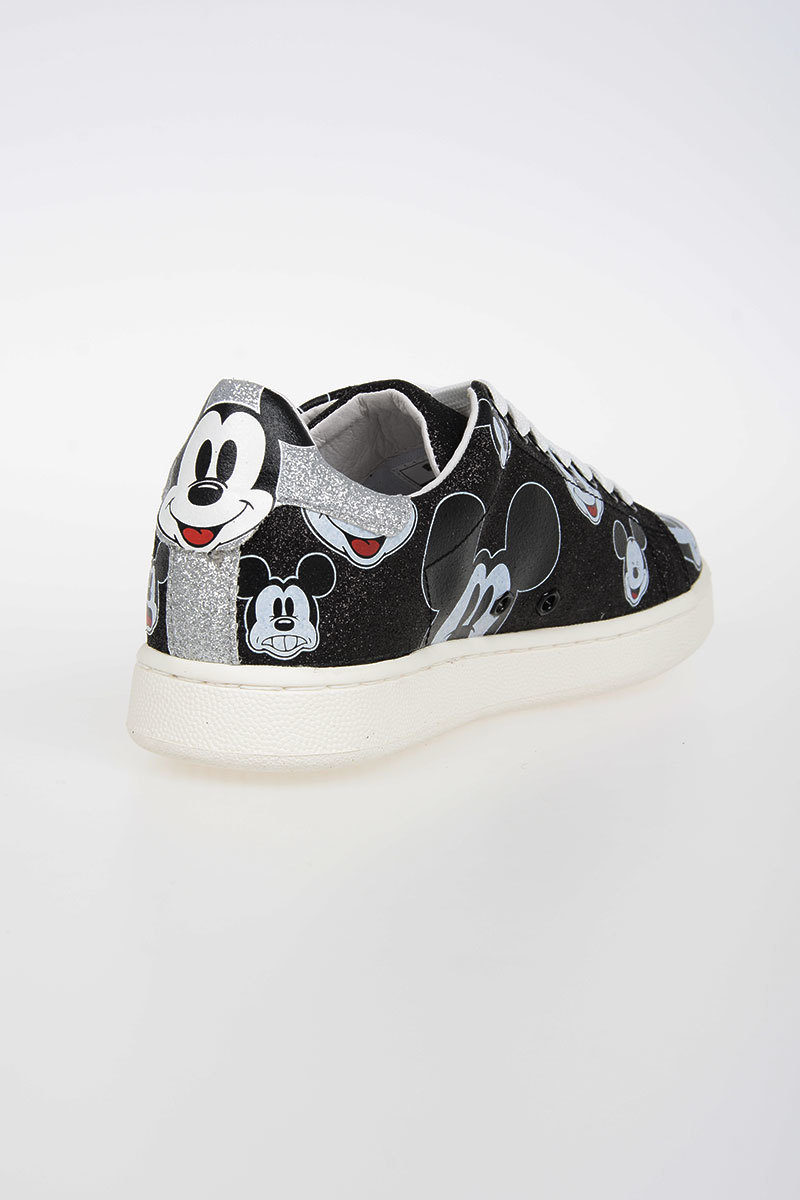 Disney Mickey Mouse Glitter Leather Sneakers