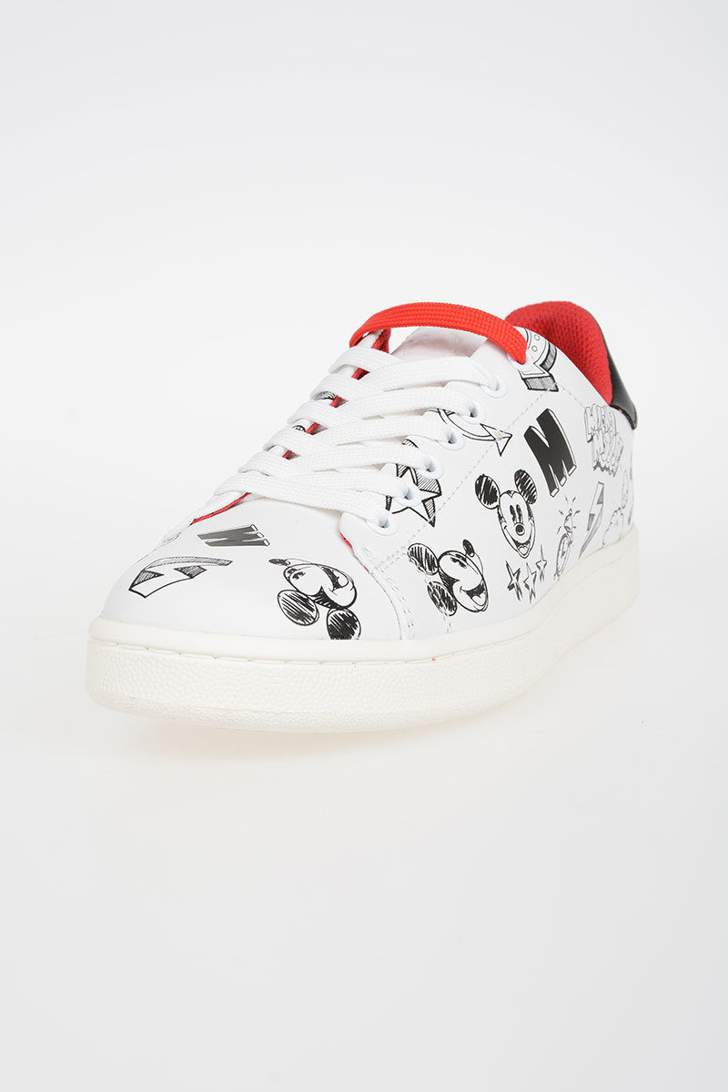 Disney Mickey Mouse Leather Sneakers