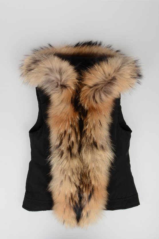 Down Padded gilet With Fur