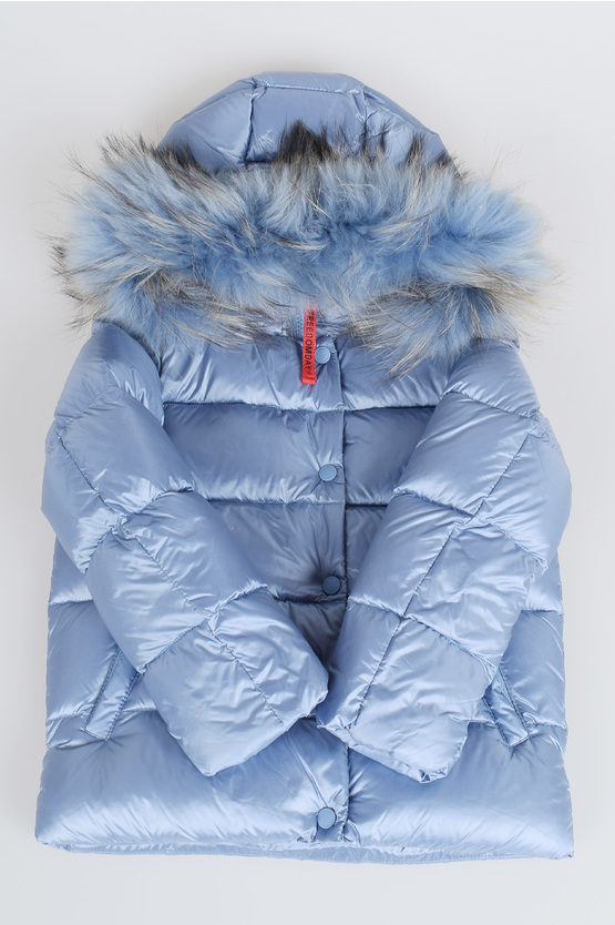 Down Padded Jacket With Real fur
