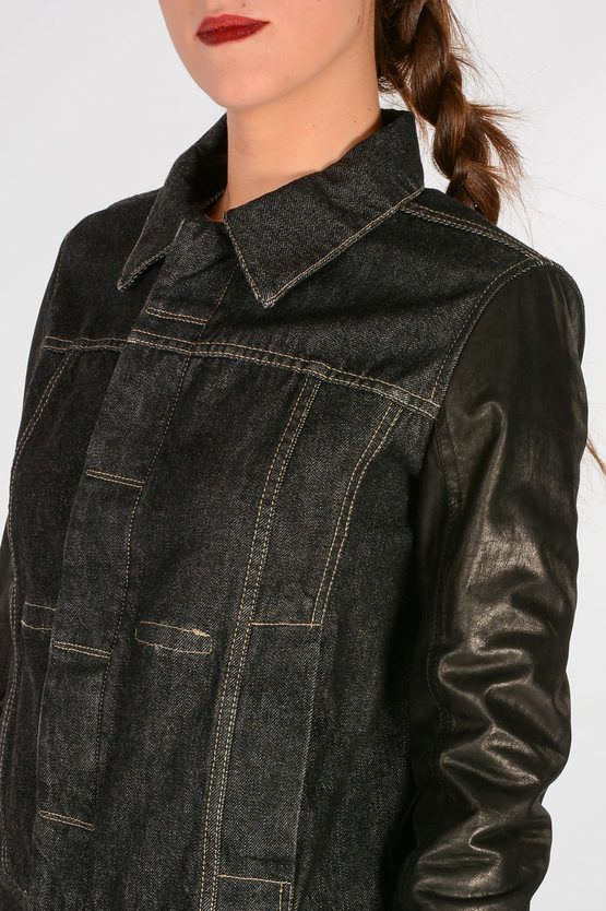 DRKSHDW Denim Leather WORKER JKT Jacket
