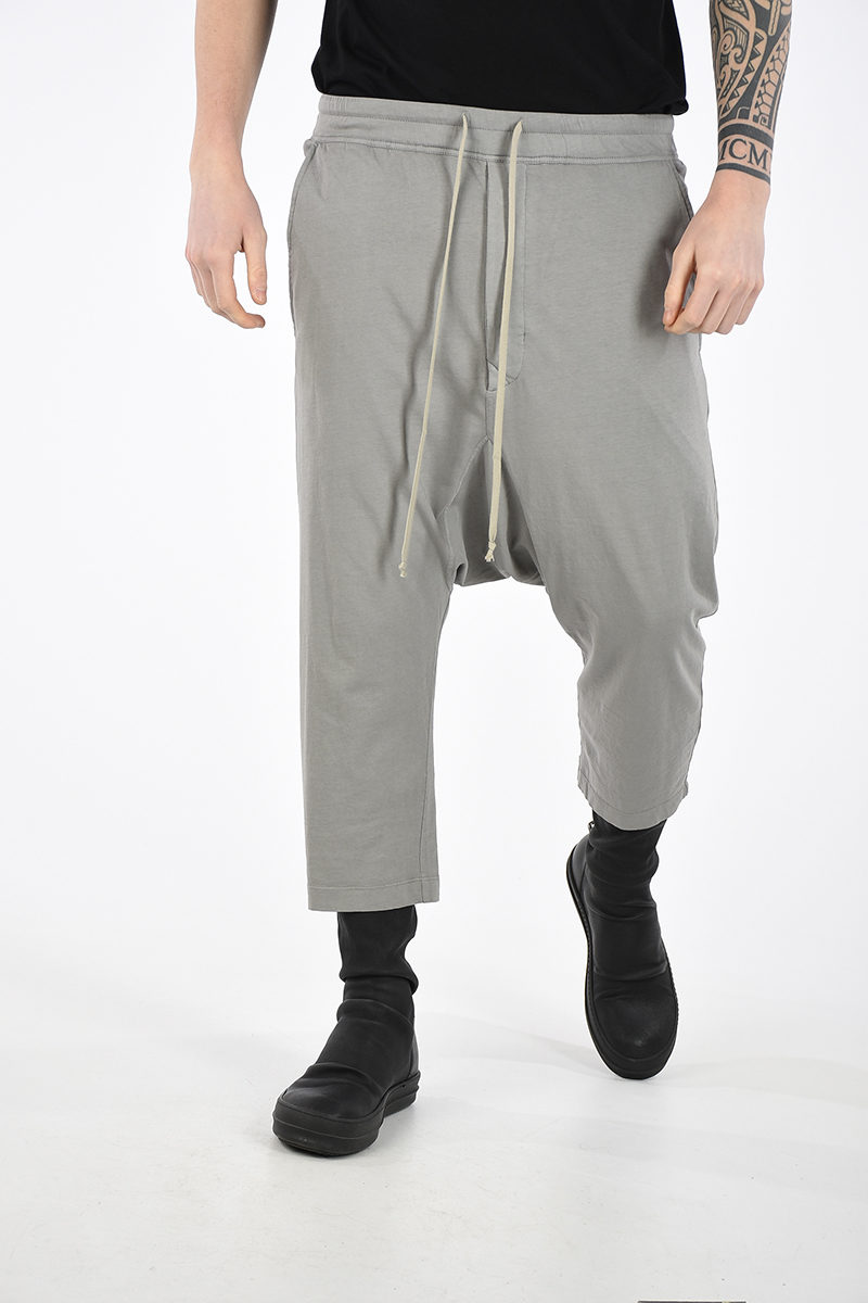729f35ac89 Rick Owens DRKSHDW Trousers DRAWSTRING CROPPED men - Glamood Outlet