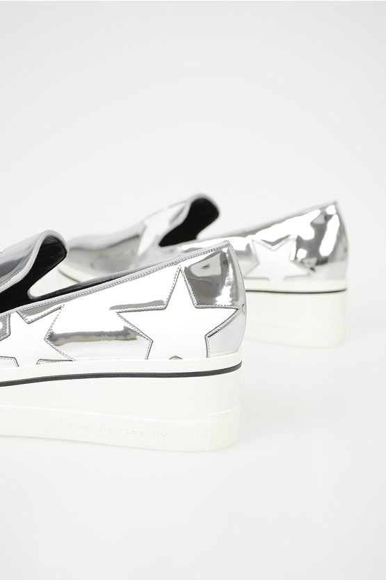 Eco Leather Slip on with Stars Embroidery