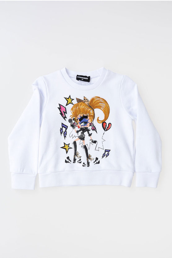 Embroidered and Printed Sweatshirt