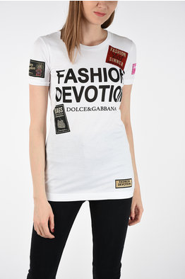 1e511ce513 -50% NEW IN. Dolce   Gabbana Embroidered and Printed T-shirt. € 375.00 €  187.50. size  44
