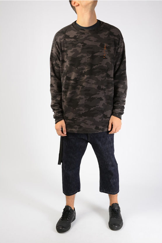 Embroidered Camouflage Sweatshirt