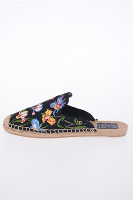 7d4f75de0a9 -45% NEW IN. Tory Burch Embroidered Canvas Slippers