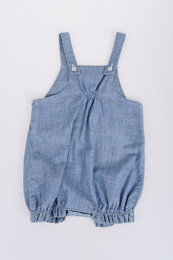 Embroidered Denim Rompers