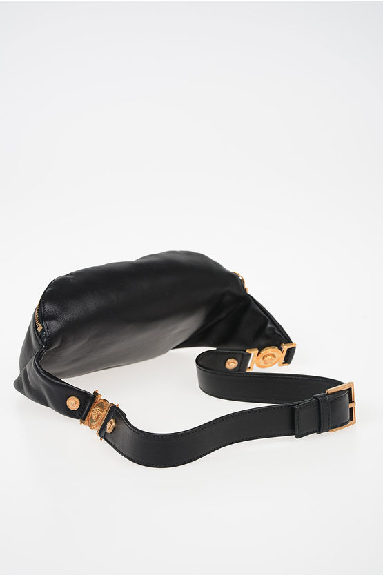 Embroidered Leather Belt Bag