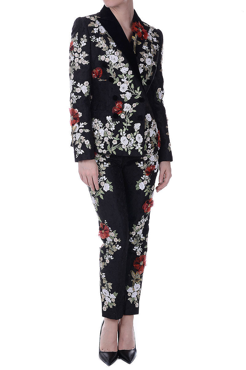 882b08a7ae54 Dolce   Gabbana Embroidered Pants with Sequins women - Glamood Outlet