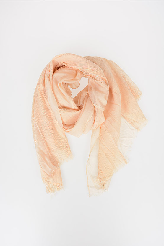 Embroidery Silk and Cotton Scarf