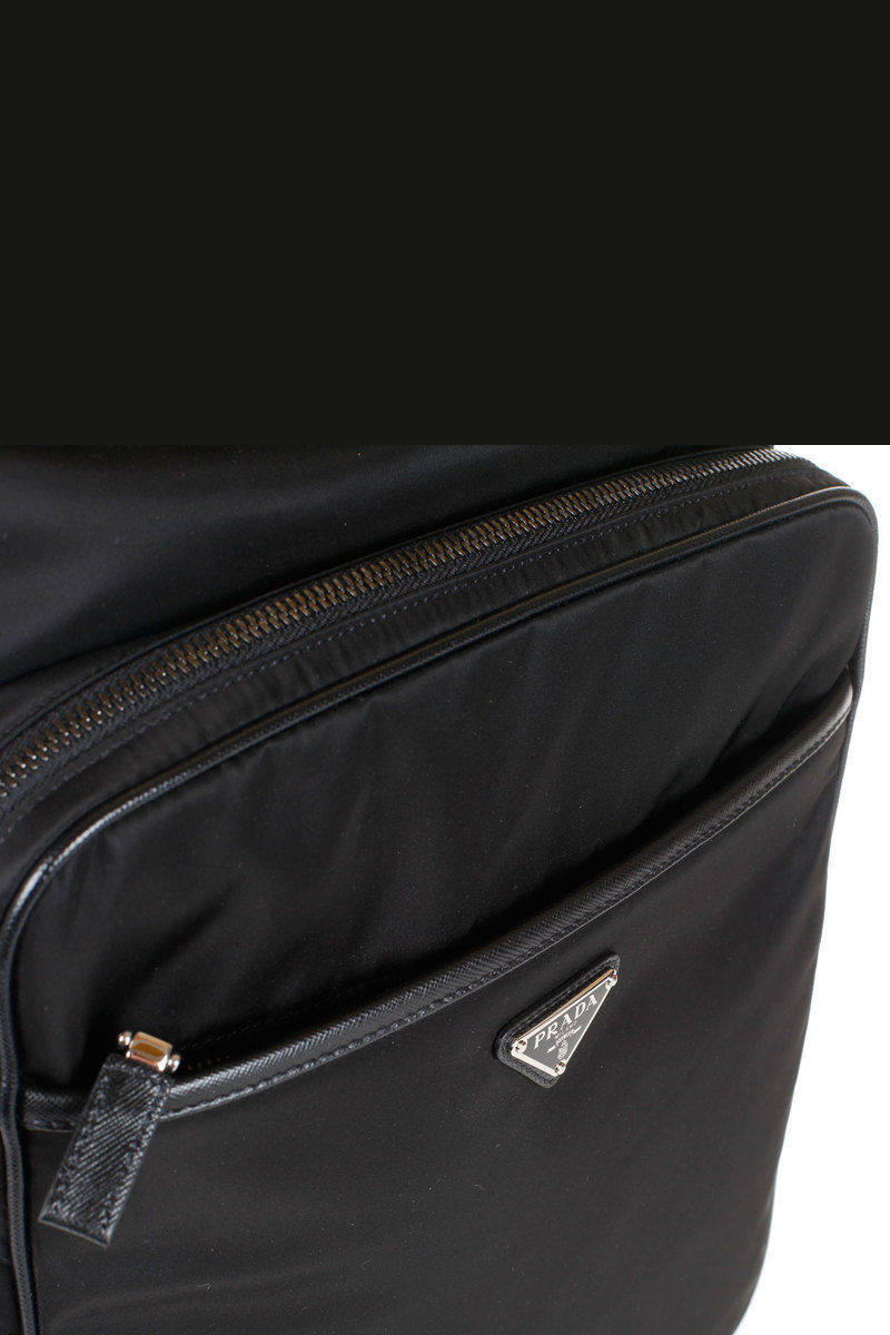 799ab26ae8a2 Prada Fabric and leather backpack men - Glamood Outlet