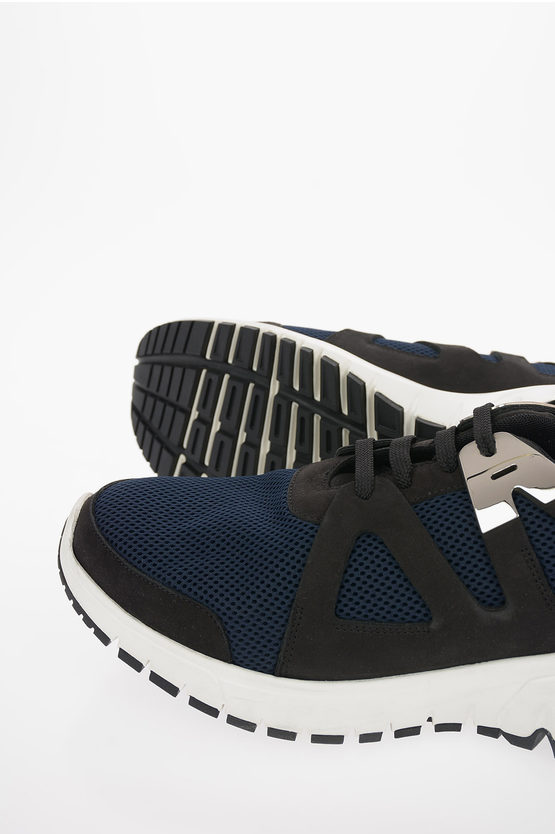 Fabric and Leather MOLECULAR RUNNER Sneakers
