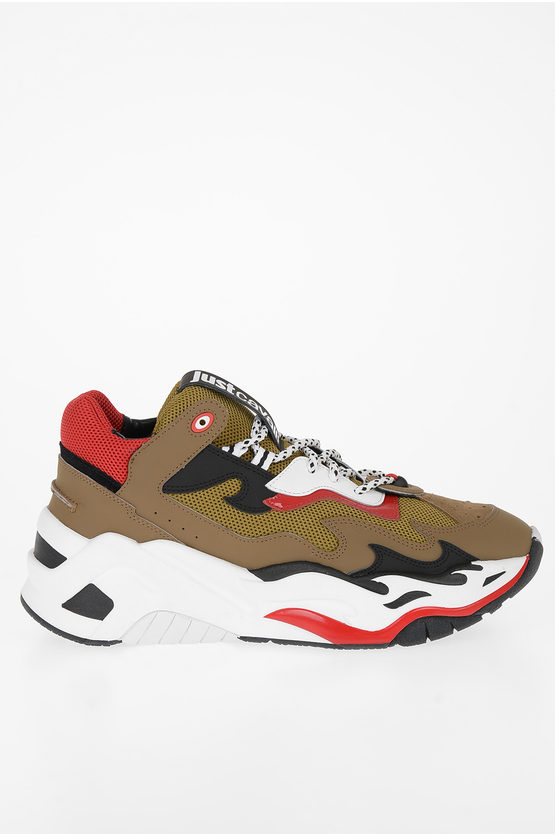 Fabric and Leather P1THON Sneakers