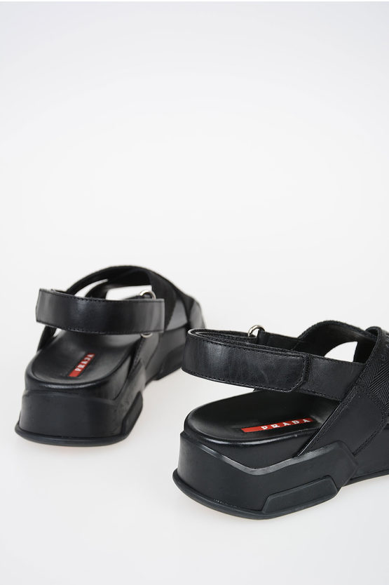 871c7746a0c619 Prada Fabric and Leather Sandal women - Glamood Outlet