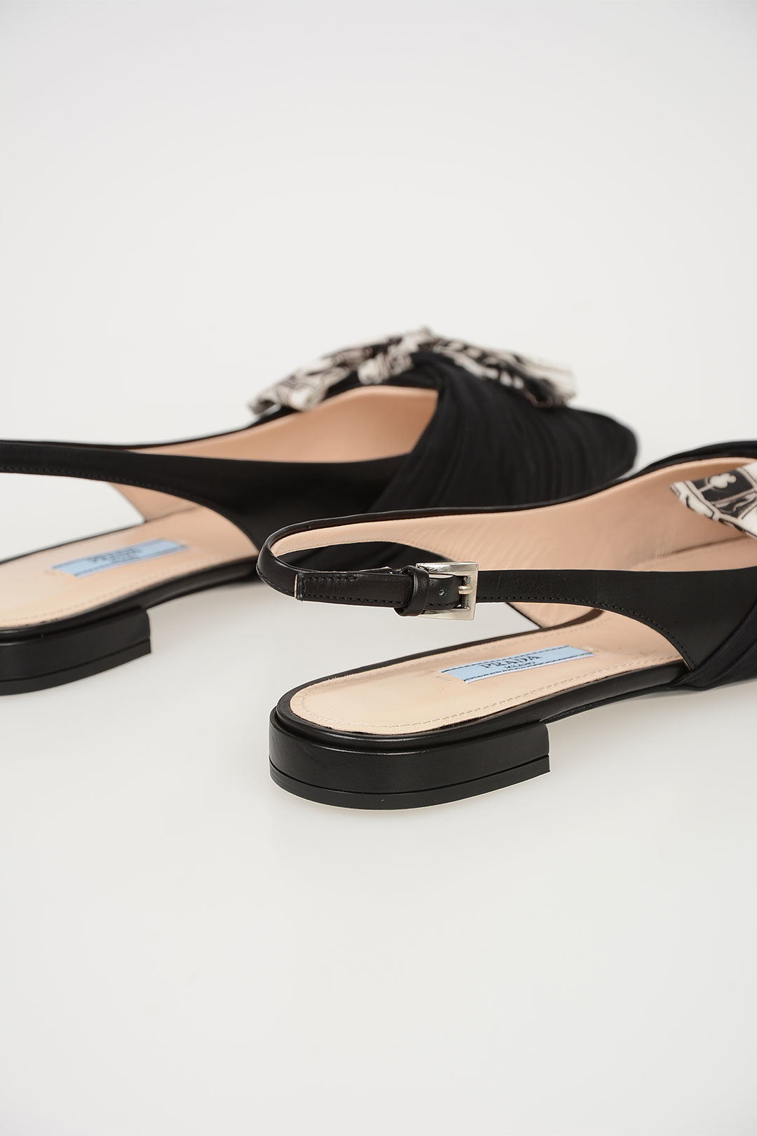 125ff0d0708 Prada Fabric and Leather Slingback Ballet Flats women - Glamood Outlet