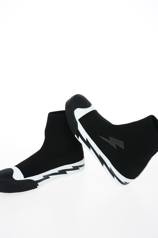 Fabric and Rubber RAZORBOLT SOCK SKATER Sneakers