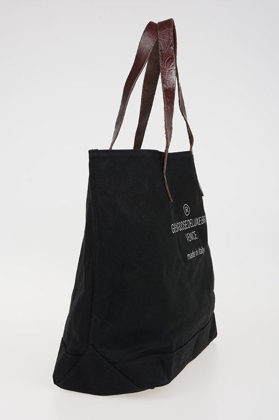 Fabric ANOUK Bag With Leather Handle